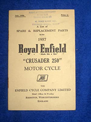 A List of Spare and Replacement Parts: The Enfield Cycle