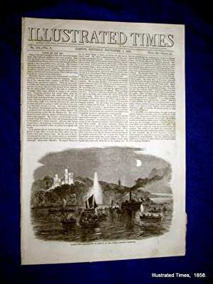 Illustrated Times. No. 179. 4 September 1858. includes BOULOGNE, WAR in CHINA, RAILWAY ACCIDENT ...