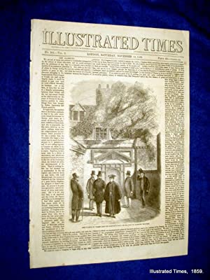 Illustrated Times. No. 241. 12 November 1859. includes DOLME BAKTCHE PALACE, ALL SOULS CHURCH ...