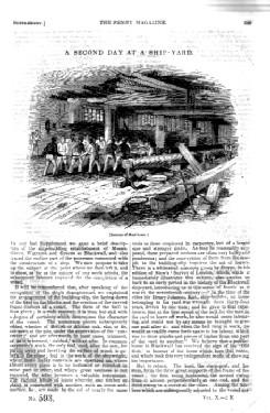 PM 593, A Second DAY at a SHIPYARD, 1841 Penny Magazine Supplement.: Knight, Charles.