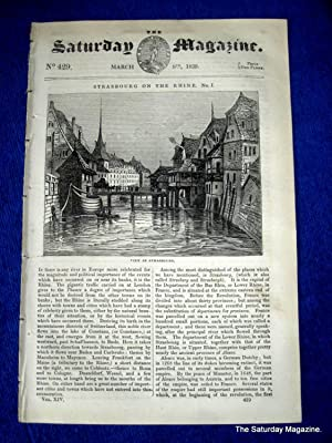 The Saturday Magazine No 429 DIVING Klingert, STRASBOURG, CROSS-BOWS,1839: John William Parker, ...