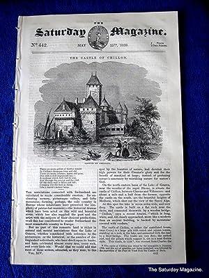 The Saturday Magazine No 442 SPALDING DIVING BELL, CHILLON Castle FALCONRY, 1839: John William ...