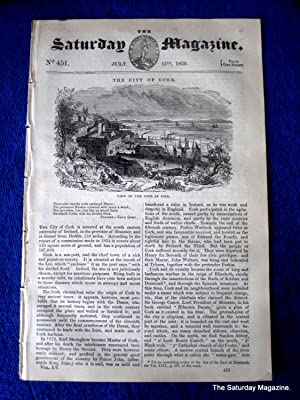 The Saturday Magazine No 451, City of CORK COVE COBH Ireland, + PERRANZABULOE, 1839: John William ...