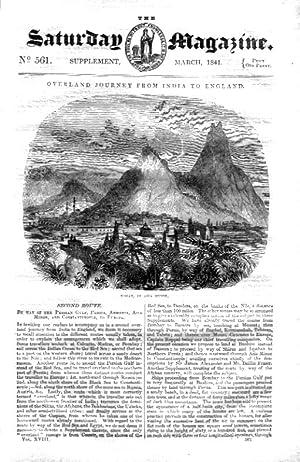 The Saturday Magazine No 561, INDIA to ENGLAND OVERLAND (Route 2 Via Persia, Armenia & ...