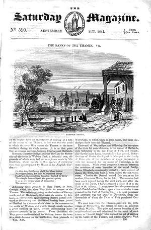 The Saturday Magazine No 590, WALTON, HAMPTON COURT Bridge, PATAGONIA Beagle,1841: John William ...