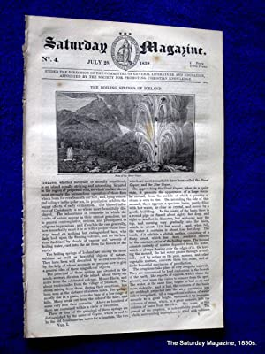 The Saturday Magazine No 4, ICELAND Geysers, BUCKSTONE, The AIR BRAHMIN, 1832: John William Parker,...