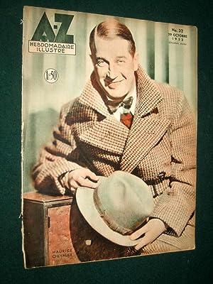 A-Z Hebdomadaire Illustre, No 16, 9 Juillet 1933. Maurice Chevalier Cover.: Meuwissen, J.