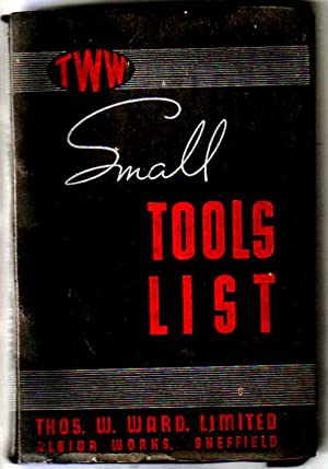 TWW SMALL TOOLS LIST 1948 Thos.W.Ward of Sheffield Catalogue.: Thos.W.Ward