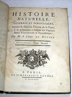 Histoire Naturelle Générale et Particulière, Servant de Suite à la Th&...