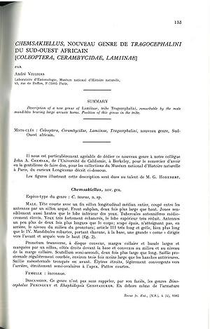 Chemsakiellus, nouveau genre de Tragocephalini du sud-ouest: VILLIERS André