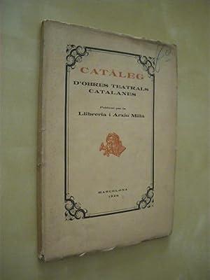 CATÀLEG D'OBRES TEATRALS CATALANES