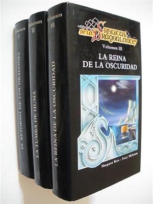 CRONICAS DE LA DRAGONLANCE. (3 VOLUMENES). EL RETORNO DE LOS DRAGONES - LA TUMBA DE HUMA - LA REINA...
