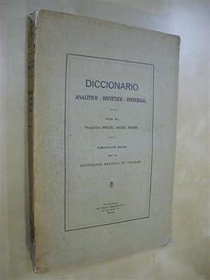 DICCIONARIO ANALITICO-SINTETICO-UNIVERSAL: MIGUEL ANGEL MOSSI