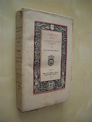 BIBLIOTECA DE AUTORES MEXICANOS Nº7 TOMO I.: ALEJANDRO VILLASEÑOR