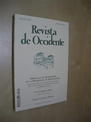 REVISTA DE OCCIDENTE. Nº 355. DICIEMBRE 2010: JOSÉ GARCÍA VELASCO