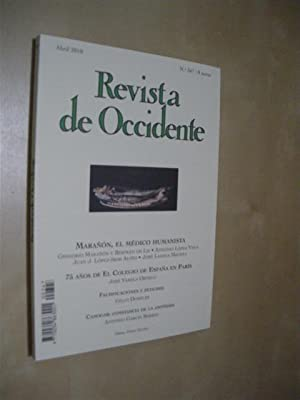 REVISTA DE OCCIDENTE. Nº 347. ABRIL 2010: GREGORIO MARAÑÓN -