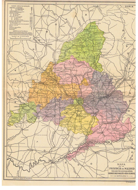 Mapa De Madrid Provincia.Mapa De La Provincia De Madrid