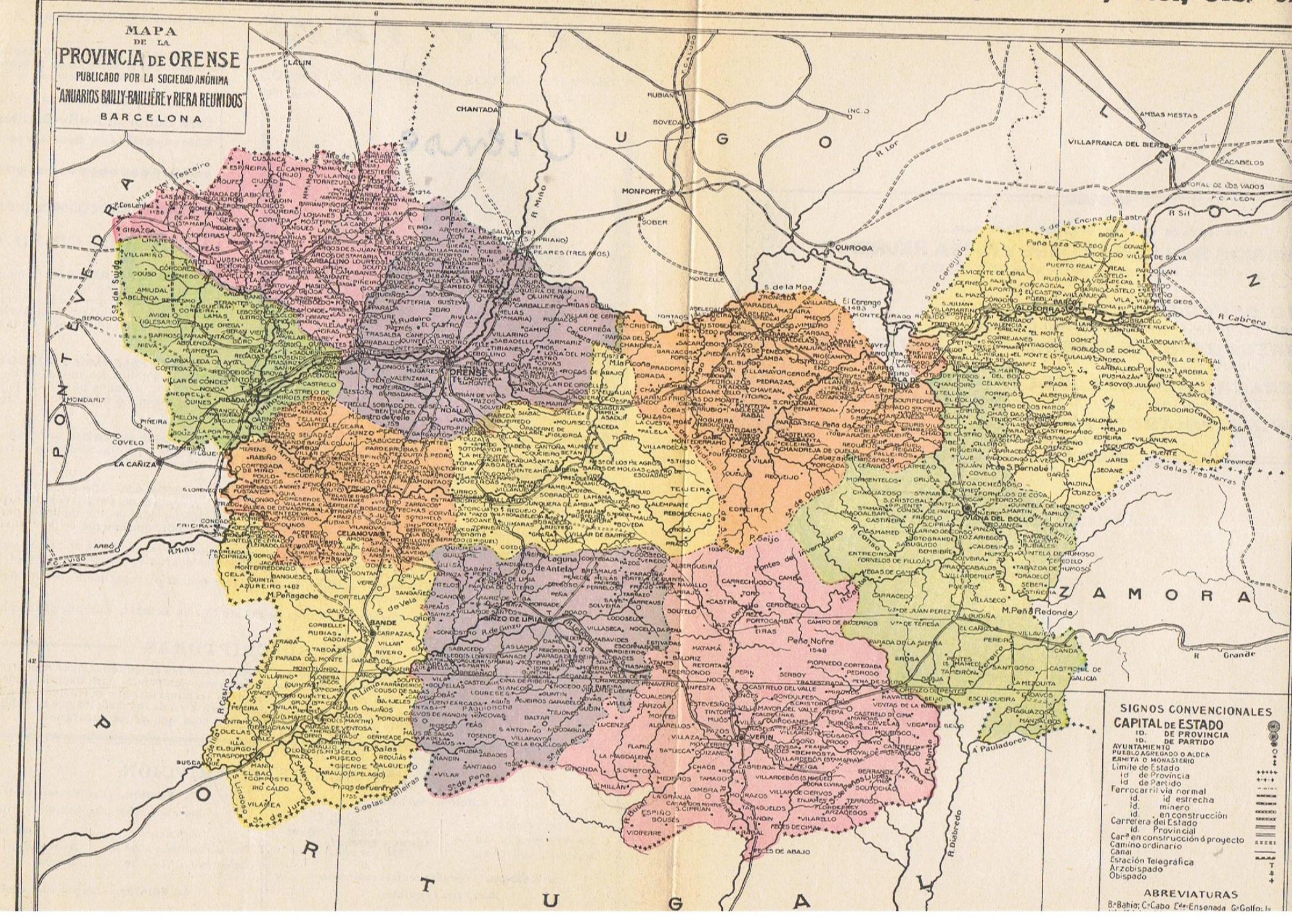 Mapa De La Provincia De Orense By Mapa Map Libreria Torreon De
