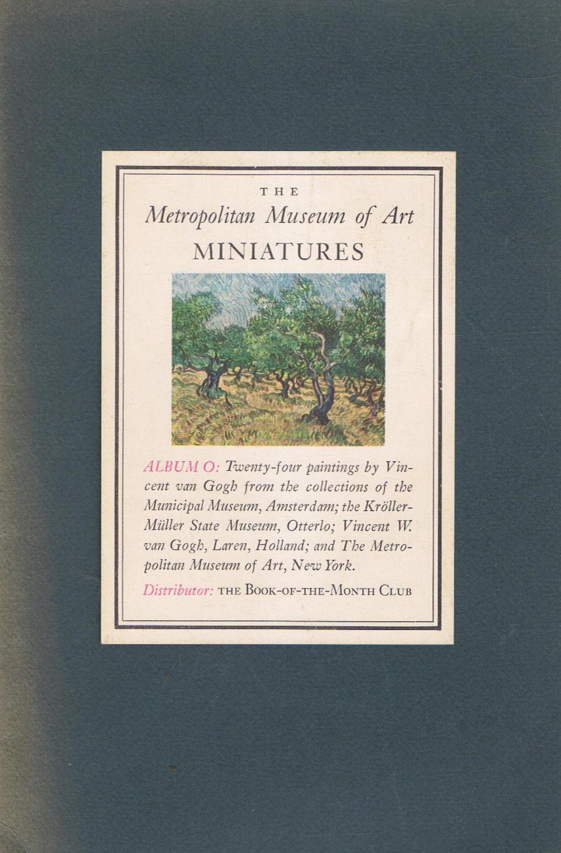 metropolitan museum of art miniatures album o twenty four paintings by vincent van gogh