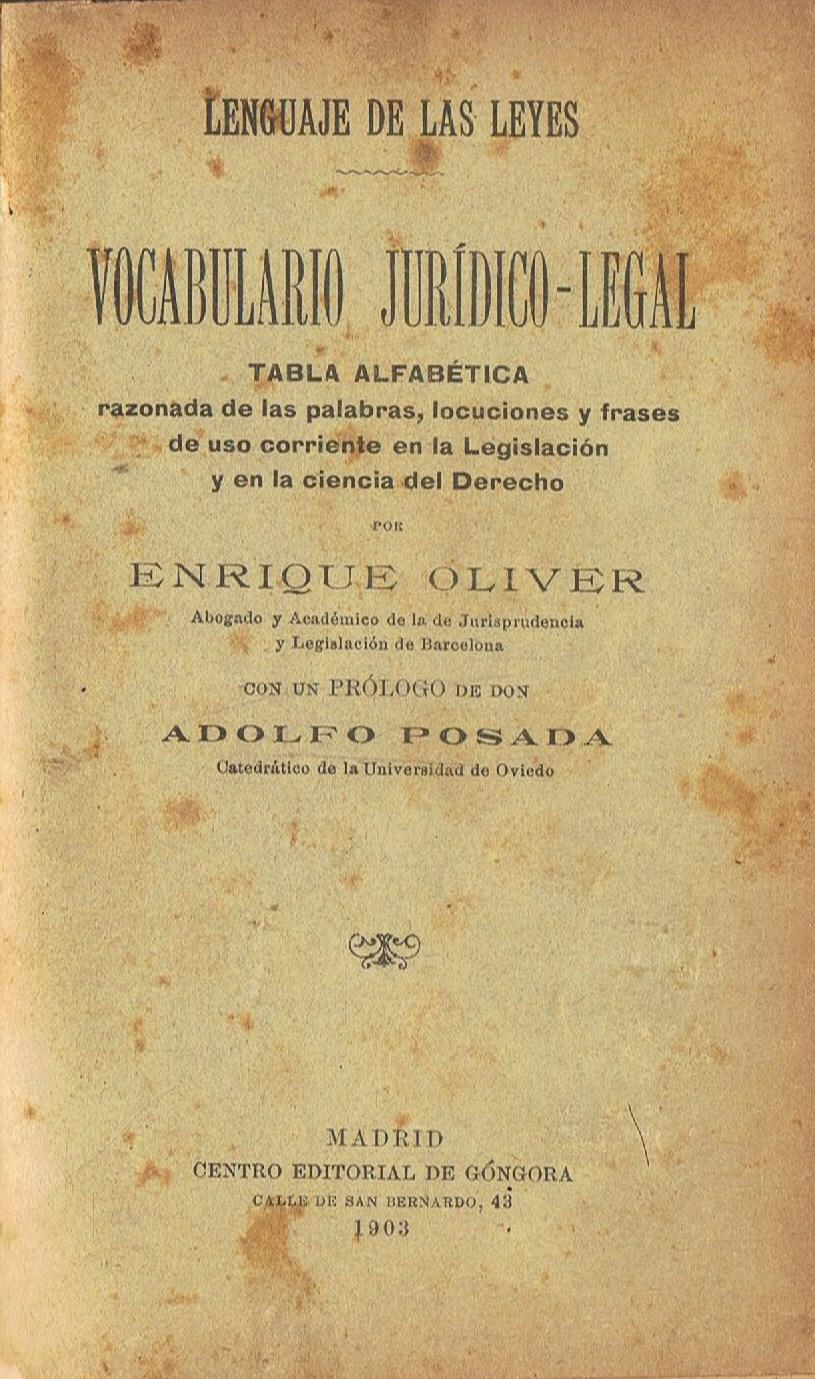 Vocabulario Jurídico Legal Tabla