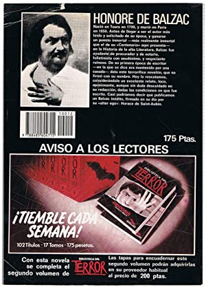 EL CENTENARIO. Bibl. del Terror, nº 12.: Balzac. Honoré de