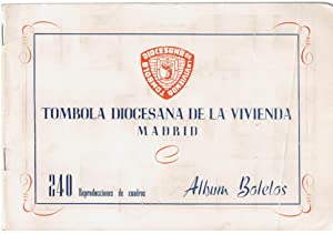 TÓMBOLA DIOCESANA DE LA VIVIENDA. MADRID. ALBUM BOLETOS. 240 Reproducciones de cuadros.: ...