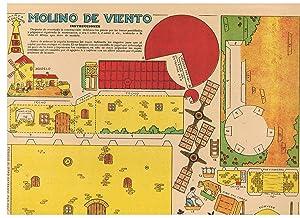 MOLINO DE VIENTO * CARRO DE BOHEMIOS. 2 Recortables: recortable