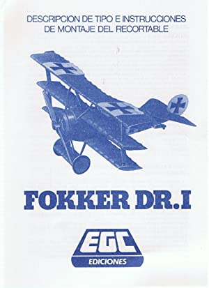 AVIÓN FOKKER DR.I: recortable
