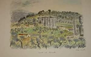 AUTOSTRADA DEL SOLE. Quattro acquarelli originali di Michele Cascella.: Scritto di Piero Bargellini...