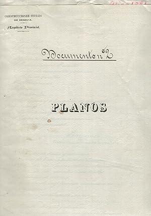 PROYECTO DE HOSPITAL MANICOMIO EN SEGOVIA.: Manuscrito