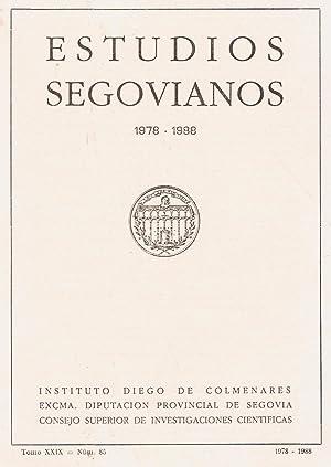 ESTUDIOS SEGOVIANOS. Tomo XXIX, Nº 85. Segovia. 1978-1988: AA.VV