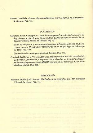 ESTUDIOS SEGOVIANOS. Tomo XXXVIII, Nº 95: AA.VV