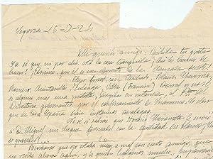 CONJUNTO DE DOS CARTAS MANUSCRITAS DE D. BLAS ZAMBRANO, Segovia, 15 / 3 / (19)24 y ...