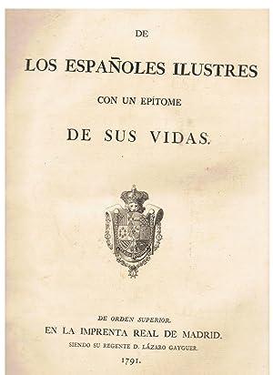 RETRATOS DE LOS ESPAÑOLES ILUSTRES CON UN EPÍTOME DE SUS VIDAS.: AA.VV.
