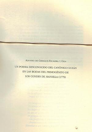 UN POEMA DESCONOCIDO DEL CANÓNIGO LUZÁN EN: Ceballos-Escalera y Gila.