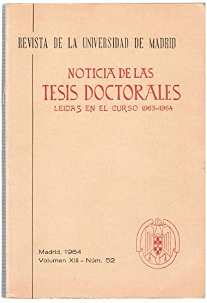 Revista de la Universidad de Madrid. NOTICIA: AA.VV