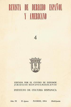 REVISTA DE DERECHO ESPAÑOL Y AMERICANO. Año: Puig Peña. Federico,