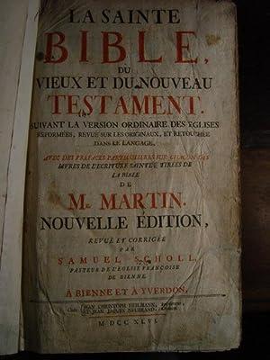 LA SAINTE BIBLE DU VIEUX ET DU: Mr. Martin.