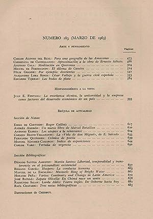 CUADERNOS HISPANOAMERICANOS Nº 183. ARTE Y PENSAMIENTO: Rosales, Luis. (