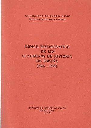 INDICE BIBLIOGRÁFICO DE LOS CUADERNOS DE HISTORIA: Bibliografia.