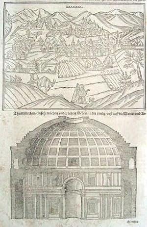 UNIVERSALIS COSMOGRAPHIA. CIUDAD DE GRANATA (Granada, España) AÑO 1581: Münster. ...