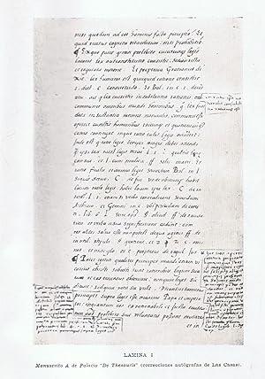DE THESAURIS IN PERU (1563) * LOS TESOROS DEL PERÚ.: Las Casas. Bartolomé de