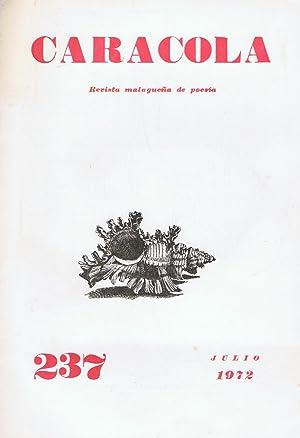 CARACOLA. Revista malagueña de poesía. Año XX.: Estrada y Segalerva.
