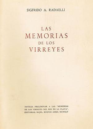 LAS MEMORIAS DE LOS VIRREYES DEL RÍO: Radaelli. Sigfrido A