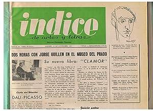 ÍNDICE DE ARTES Y LETRAS. Año 6.: Fernández Figueroa. Juan,