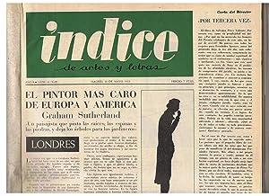 ÍNDICE DE ARTES Y LETRAS. Año 8.: Fernández Figueroa. Juan,