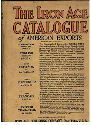 THE IRON AGE CATALOGUE OF AMERICAN EXPORTS.: Frank. Fritz J.