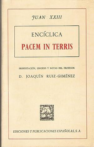 ENCÍCLICA PACEM IN TERRIS: Juan XXIII