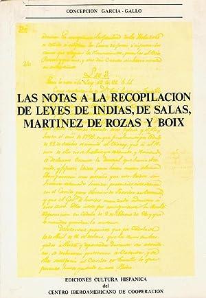 LAS NOTAS A LA RECOPILACIÓN DE LEYES: García ¿ Gallo.