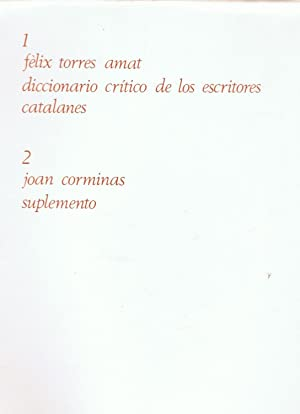 MEMORIAS PARA AYUDAR A FORMAR UN DICCIONARIO: Torres Amat. Félix,